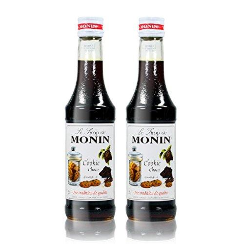 2x Monin Cookie Choco Sirup, 250 ml Flasche - für Cocktails, zum Kaffee oder Kochen