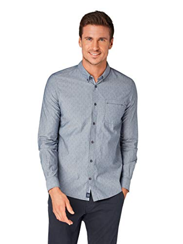 TOM TAILOR für Männer Blusen, Shirts & Hemden Floyd Dobby Chambray Shirt Navy T Dobby Chambray, XXXL