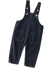 Niños Largo Monos Color Sólido Jeans Vaquero Unisex Pantalones