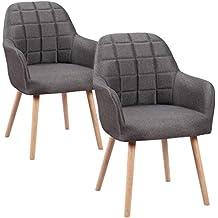 HENGMEI Juego de 2 sillas de Comedor Salón Silla Cocina Sillas – Silla de Oficina con