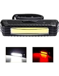 LED Lampe de Vélo Arrière, Mifine USB Rechargeable Vélo Phare d'alarme - 5 Modes Ajustables - Antichoc Impermeable - pour VTT / VTC, Assurer la Sécurité et Visibilité