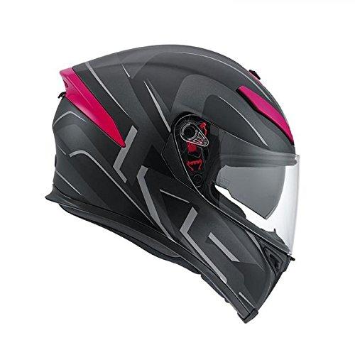 AGV K5 nero casco moto fucsia