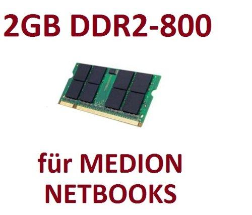 Mihatsch & Diewald / Netbook - Memory - 2GB - SO-DIMM 200-PIN - DDR2 - 800 MHz passend für MEDION® AKOYA® E1210 + E1211 + E1212 + E1213 + E1215 + E1216 + E1217 + E1221 + E1222 + E1311 + E1312 + E1313 + S1213 (Speicher Ram 2gb Laptop Mini Ddr2)