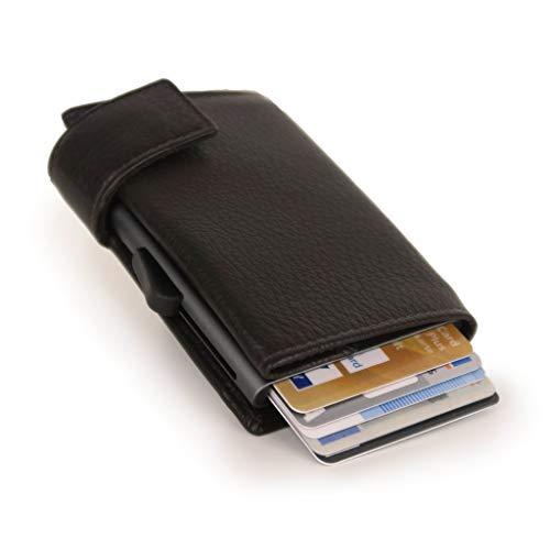 SecWal 2 Kreditkartenetui Geldbörse RFID Leder 9 cm