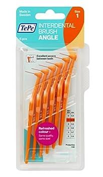 Tepe Interdentalbürsten Angle Orange 0.45 Mm 6 Stück Packung 1