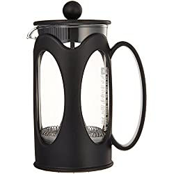 Bodum kenya Kaffeebereiter (French Press System, Permanent Edelstahl-Filter, 0,35 liters) schwarz