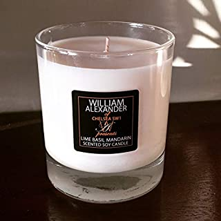William Alexander Scented Soy Wax Candle Lime Basil Mandarin by William Alexander