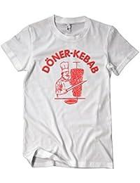Döner Kebap Original Logo Fun T-Shirt Herren weiß