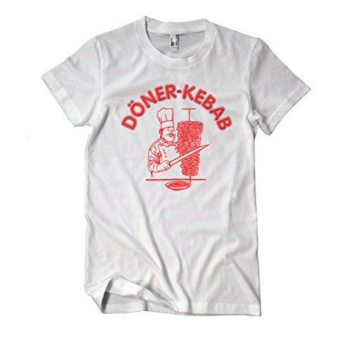 Döner Kebap Original Logo Fun T-Shirt Herren weiß Weiß