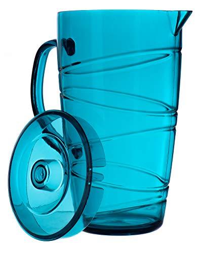 LIVIVO Krug mit Wirbel-Design, ideal für Picknicks, Grillabende, Poolside, Camping, Kinderpartys oder einfach für den täglichen Gebrauch blau