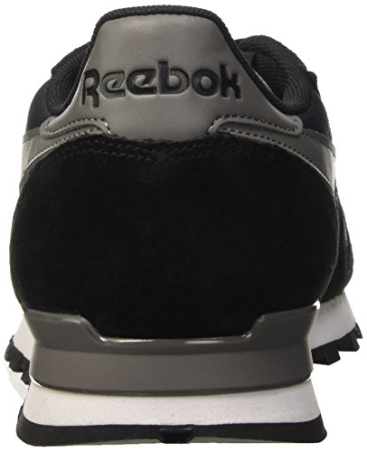 Reebok Classic Leather Clip Ele, Scarpe da Ginnastica Basse Uomo Nero (gravel/black/medium Grey)