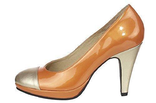 Pumps High Heels aus Nappaleder von Best Connections Orange