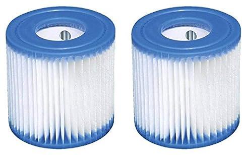 2x Intex Cartouche de filtre type H (29007) pour filtre Pompes 28601, 28602
