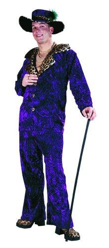 Big Daddy Purple Velvet Pimp Adult Costume Standdard
