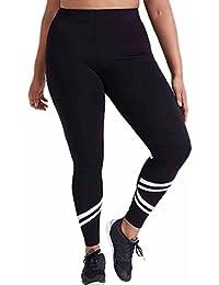Ansenesna Damen Große Größe Schwarz und Weiß Nähte Elastische Atmungsaktive Strech Jogginghose Hohe Taille Fitnesshose Knöchellang lange Leggings Sporthosen Stretch-Hose Yoga Pants