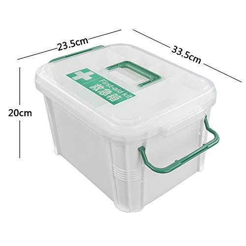 41YSnCNmGeL - Dynko Botiquín de Primeros Auxilios, Caja de Almacenaje, Plástico Caja Para Botiquin