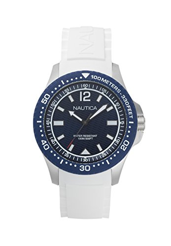 Nautica Reloj Analógico para Hombre de Cuarzo con Correa en Silicona NAPMAU004