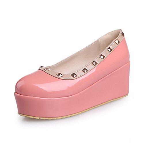 balamasa Damen Ziehen Auf High Heels massivem Pumpen Schuhe, rosa - rose - Größe: 35