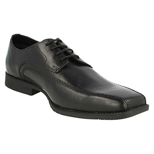 Mens Clarks Formal Lace Up Shoes Baker Lace – Black Leather, UK Size 10G – EU Size 44.5 – US Size 10.5