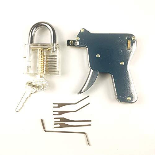 TPM Go multi-lock Pick Gun mit Transparent Praxis Lock, Entsperren Tür Lock, Einfachheit der Operator (bis) (Pick Guns)