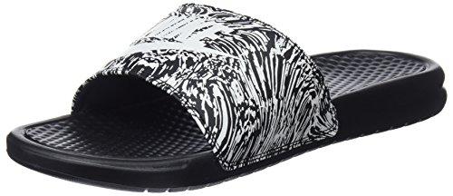Nike benassi jdi print, scarpe da fitness uomo, (black/summit white 006), 44 eu