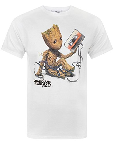 Guardians of the Galaxy Vol 2 Groot Tape Men's T-Shirt (XL) (Voll T-shirt)