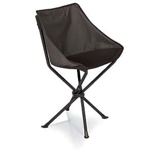Picknick Zeit Odyssey Tragbarer Stuhl, schwarz