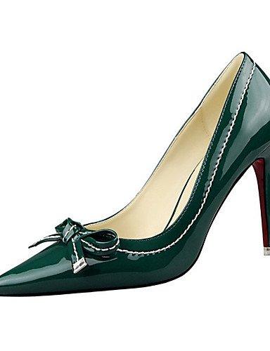 WSS 2016 Chaussures Femme-Décontracté-Noir / Vert / Rouge / Blanc / Argent / Gris-Talon Aiguille-Talons-Talons-Laine synthétique gray-us8 / eu39 / uk6 / cn39