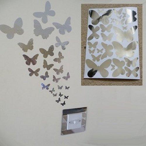 Specchio farfalla Wall Stickers 1 foglio di formato A4