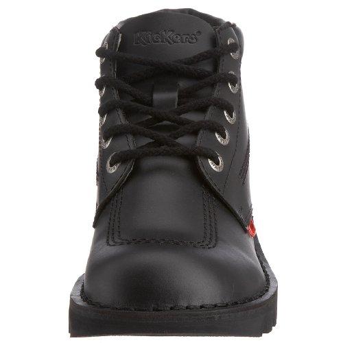 Kickers Kick Hi Mens Black, Leather lace up boot Schwarz (Black/Black/Black)