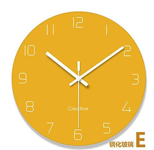 Early April ABC Reloj de Pared Reloj Sala de Estar Moderna Dormitorio Redondo batería silenciosa Simple...