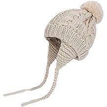 c00a7ca49645b QinMM Bebés niñas niños Orejeras Calientes Sombreros de Punto para niños  Gorra