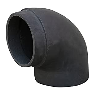"Lincsfire 6"" 90 Degree Bend Cast Iron Flue Pipe Chimney for Wood Log Burning Multifuel Stove"