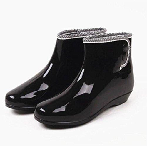 Frühling und Herbst Gelee Regen Stiefel / Damen kurze Stiefel / Garten Slip Schuhe / Schuhe , 3 , 37