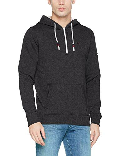Tommy Jeans Herren Basic Zip Knit Langarm Regular Fit Kapuzenpullover Schwarz (Tommy Black 078) Small - Basic Zip Hooded Sweatshirt