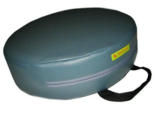 BARFUSS-Kinder-Sitzerhhung-Lederoptik-rund-anthrazit-grau