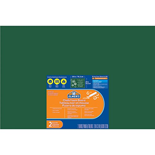 elmers-x-acto-elmers-chalk-foam-boards-20-inch-x-30-inch-2-pkg-green-other-multicoloured