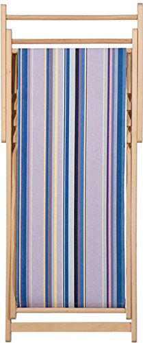 Chaise longue transat chilienne Sunbrella Heure Bleue - Les Toiles du soleil
