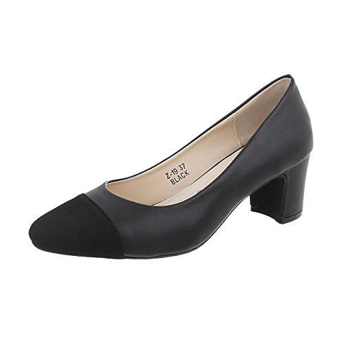 Scarpe da donna Scarpe col tacco tacco gattino Classico Scarpe col tacco Ital-Design Schwarz Z-19-1
