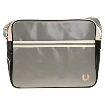 Fred Perry Classic Shoulder Bag L1180-408 Herren Tasche Grün 30x36x12