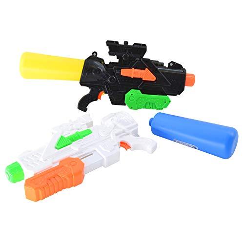 HAC24 2er Set Wasserpistole mit XXL Wasser Tank | Spritzpistole Wassergewehr 60cm | Spielzeug Wasserspritzpistole 2l Fassungsvermögen