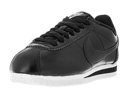 Nike Damen Wmns Classic Cortez Leather Turnschuhe, Bianco, 36,5 EU Black (Nero / Nero-MTLC Rd brnz-White)