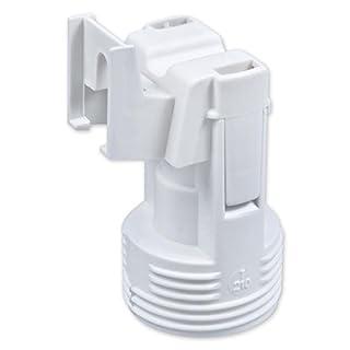 E14 Lampenfassung Kunststoff (PBT), Gewindefassung mit Halterung, Sockel mit 4,2 mm Schraubenloch Weiß (RAL 9003)