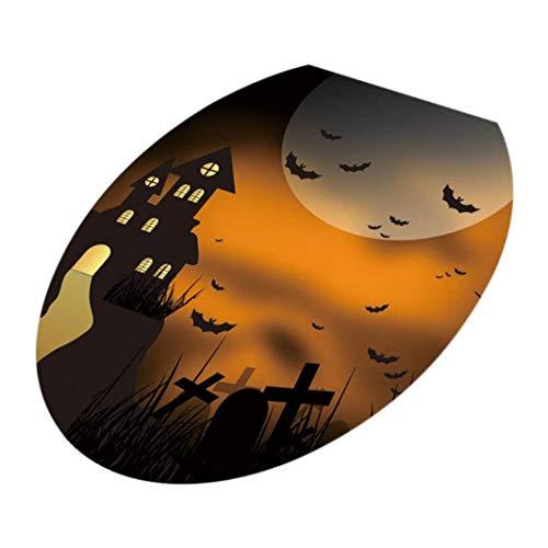 VEMOW Halloween Party Dekoration Toilettensitz Wandaufkleber Abziehbilder Vinyl -