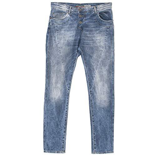 Please, P78A, Damen Jeans Hose, Stretchdenim, Blue Used, X-Small [20996]