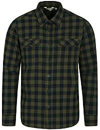 Mountain Warehouse Trace Mens Flannel Long Sleeve Shirt - 100% Cotton  Checks Shirt, Lightweight fb16f6cdb7