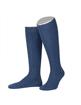 Kniestrümpfe zur Lederhose in Blau von Lusana