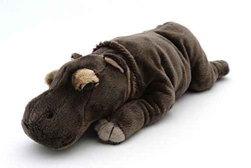 weiches Plüsch Nilpferd - Flusspferd liegend grau - Hippo - ca. 31 cm ()