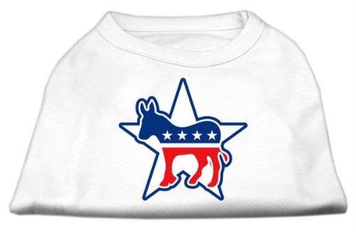 Mirage Pet Products 20Demokrat Screen Print Shirts für Haustiere, 3x große, weiß (Demokrat Hund T-shirt)