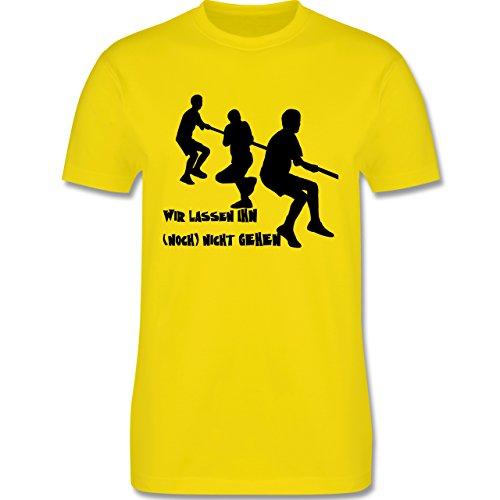 JGA Junggesellenabschied - Wir lassen ihn noch nicht gehen - Herren Premium T-Shirt Lemon Gelb